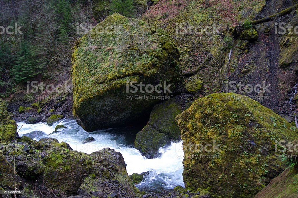 Gorge Green Boulders stock photo