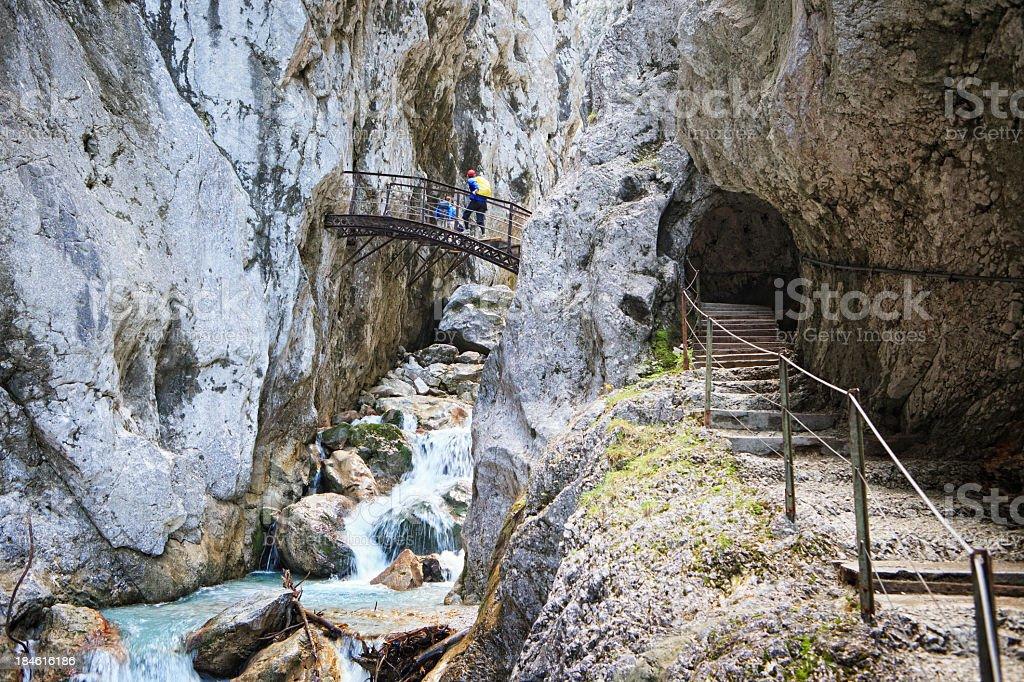 Gorge Höllentalklamm, Germany stock photo