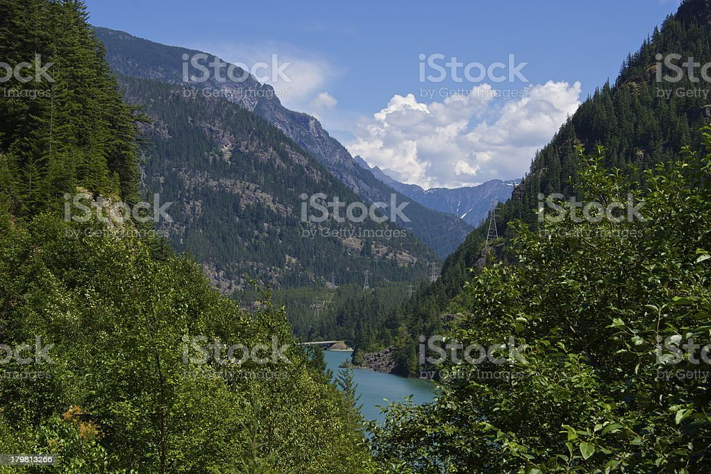 Gorge Lake stock photo