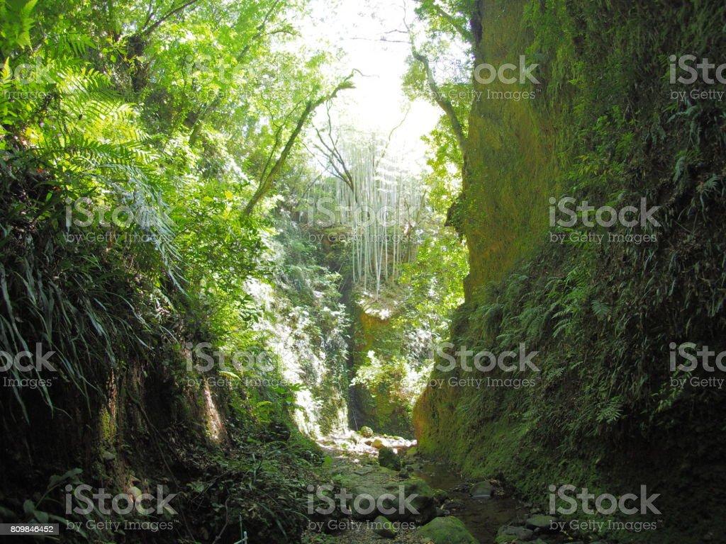 gorge near Iokido Cave stock photo