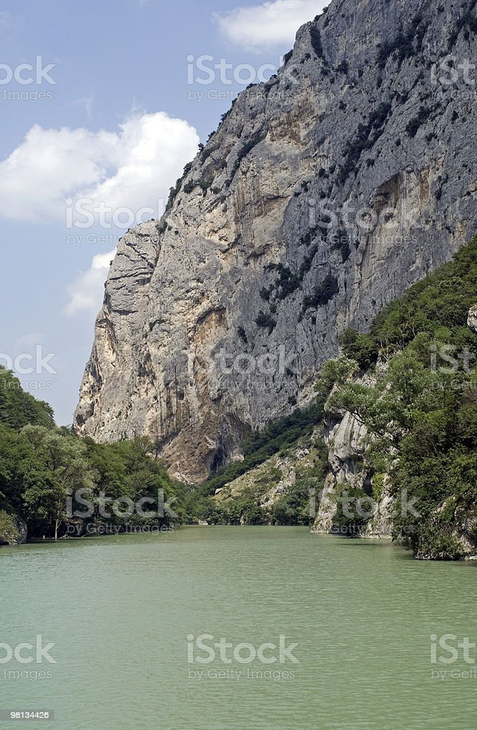 Gorge of Furlo (Marches, Italy) royalty-free stock photo