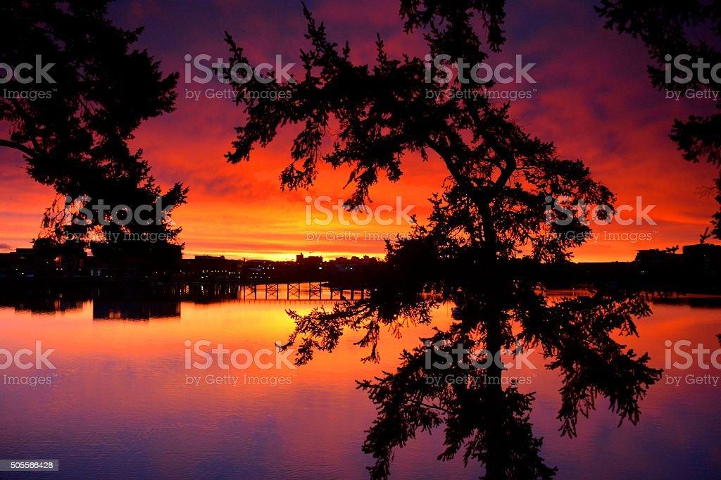 Gorge Sunrise stock photo