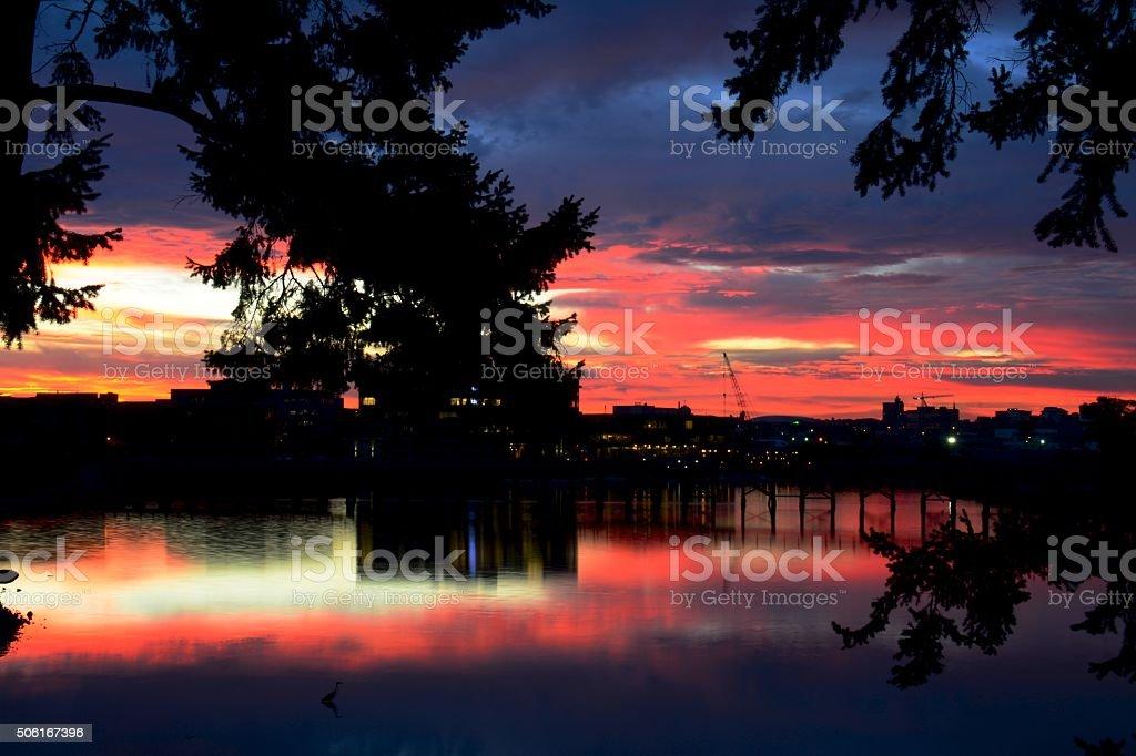 Gorge Sunrise royalty-free stock photo