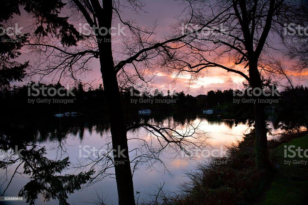 Gorge Sunset stock photo