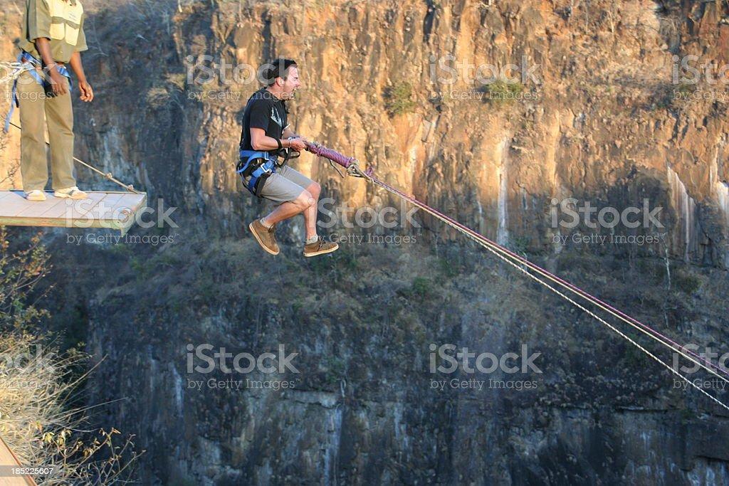 Gorge swing Victoria Falls stock photo