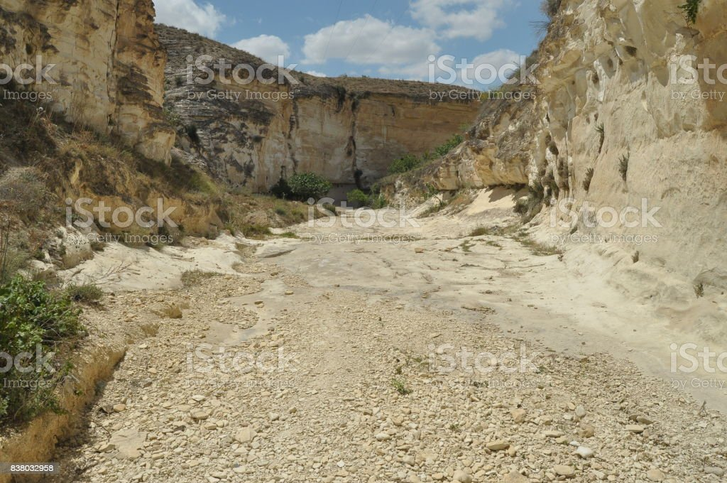 Gorge with steep walls. South East Turkey. Leisure and tourism. Climbing the mountain stock photo