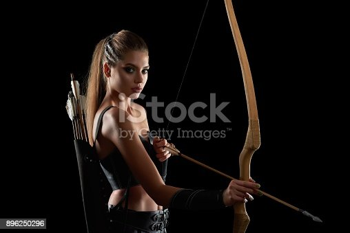 istock Gorgeous Amazon woman at studio 896250296
