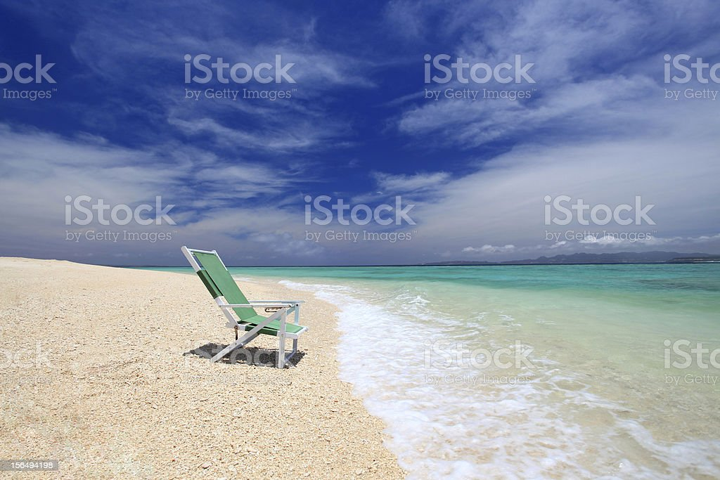 Gorgeous Beach in Summertime royalty-free stock photo