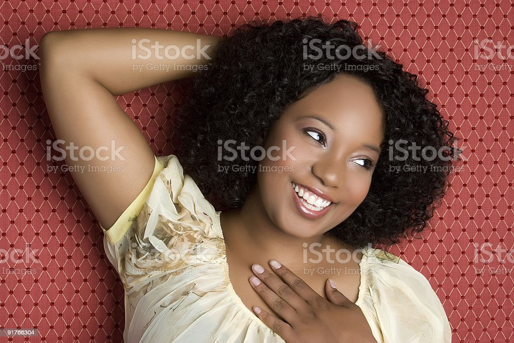Gorgeous Black Woman Laughing royalty-free stock photo