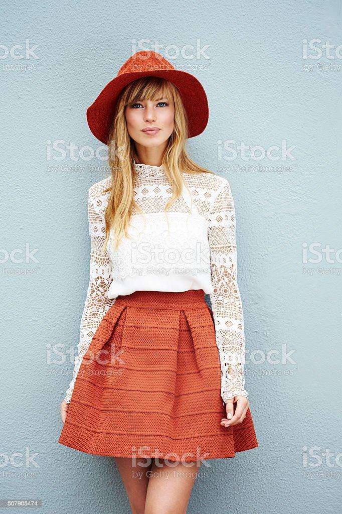 Wspaniałe blond moda modelu – zdjęcie