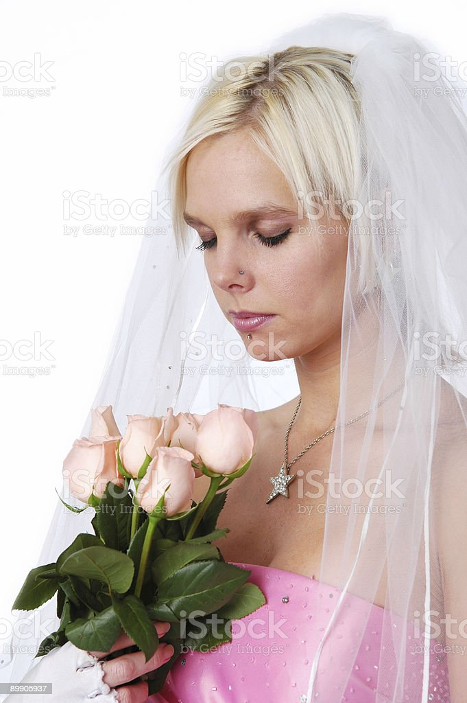 Gorgeous Bride with roses royalty-free stock photo