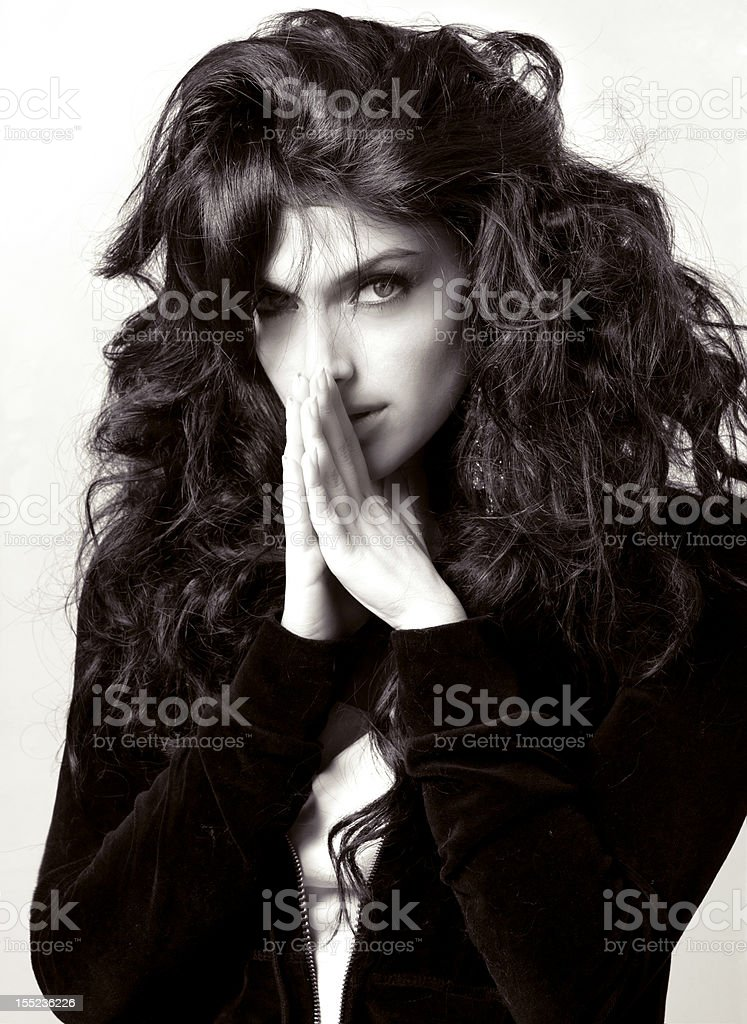 gorgeous brunette royalty-free stock photo