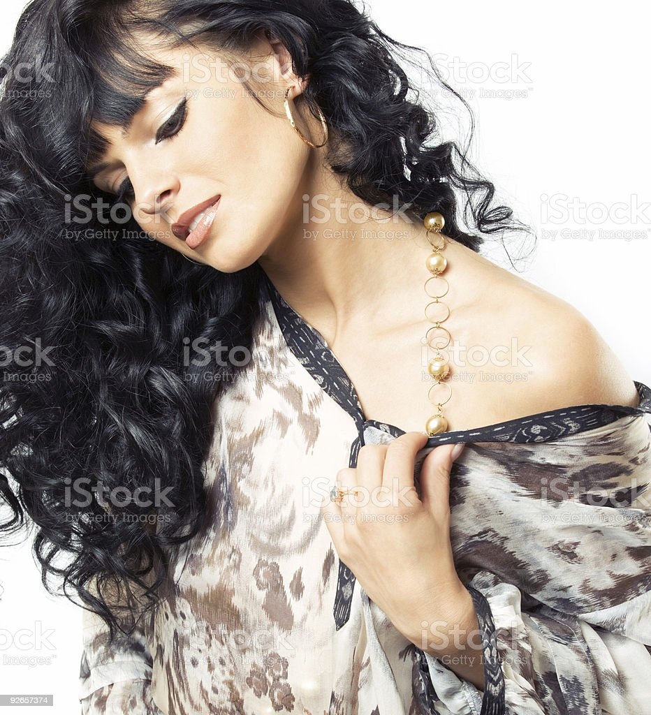 gorgeous brunette posing royalty-free stock photo