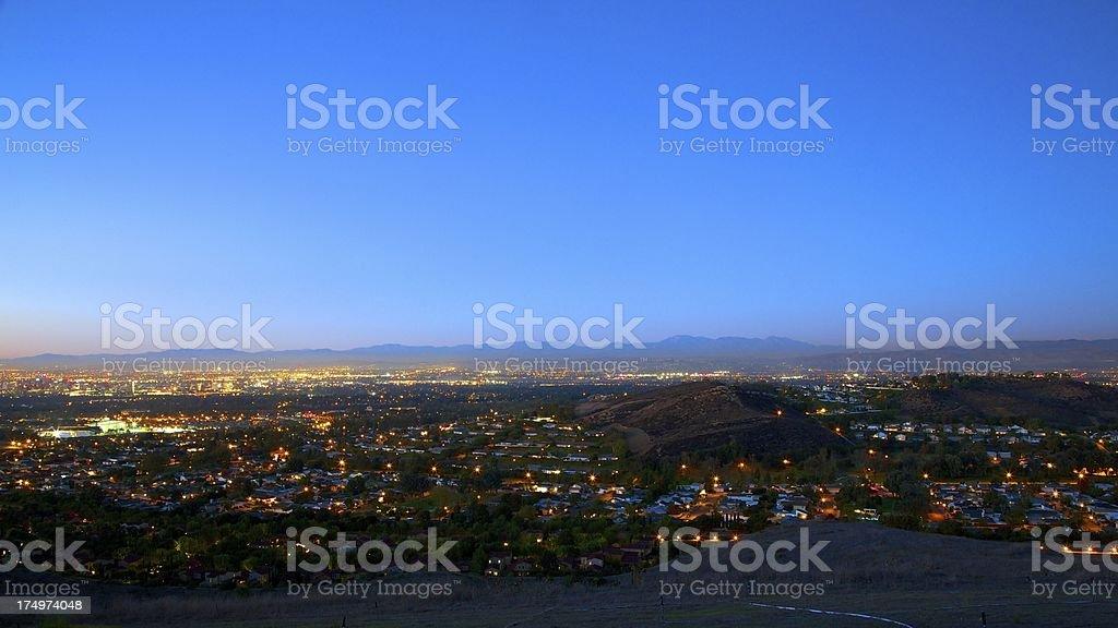 Gorgeous California Night royalty-free stock photo
