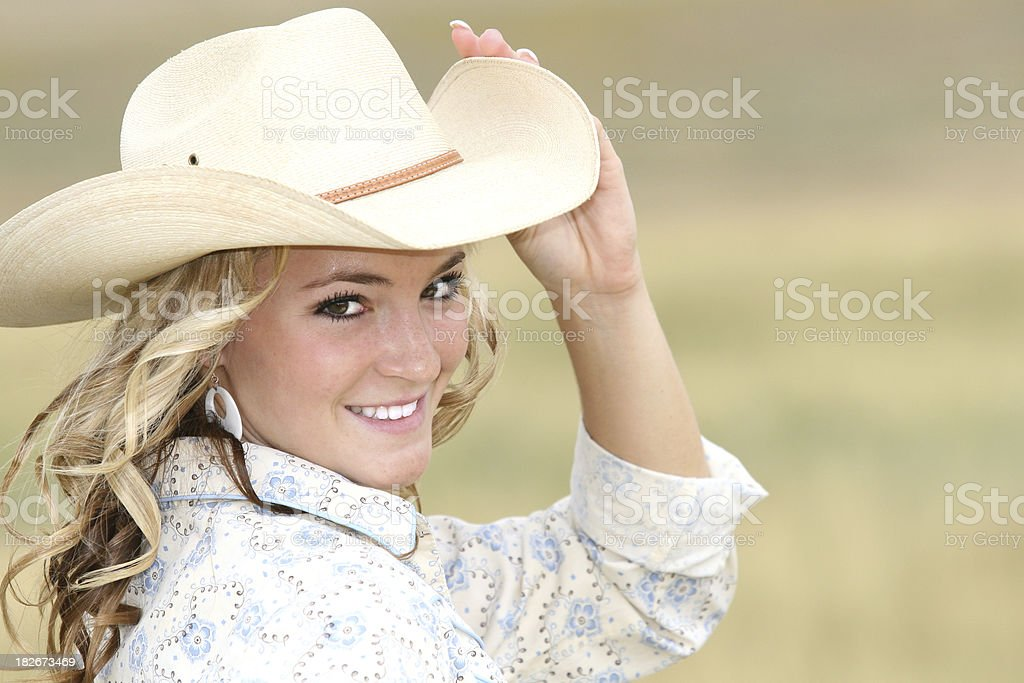 Gorgeous Cowgirl royalty-free stock photo