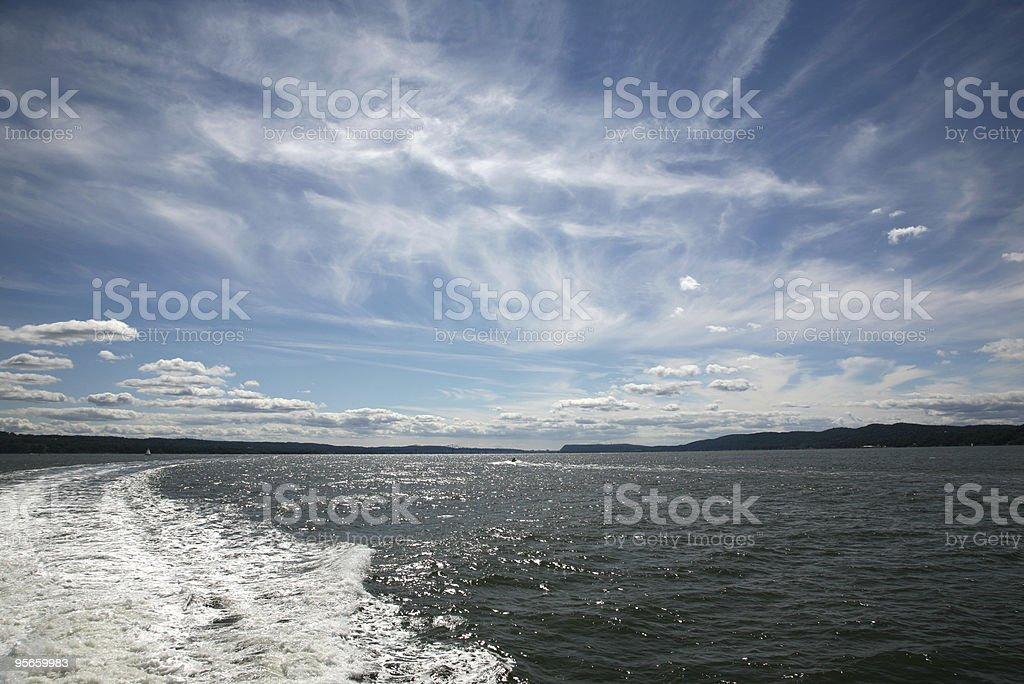 Gorgeous Day on the Hudson royalty-free stock photo