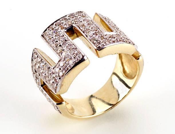 Gorgeous diamond ring stock photo