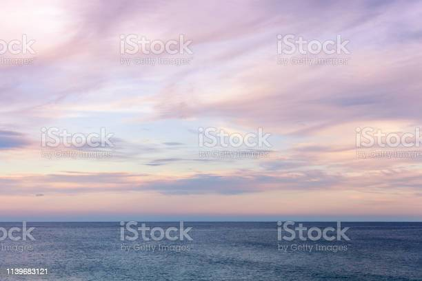 Photo of Gorgeous Dusk Seascape Cloudscape Rolling Over Open Water