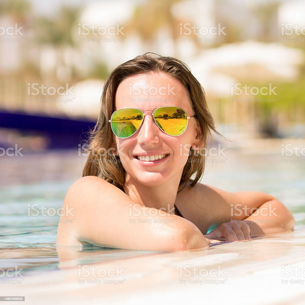 Adult, Adults Only, Caucasian Ethnicity, Females, One Woman Only. Gorgeous  european woman enjoying summer vacation ...