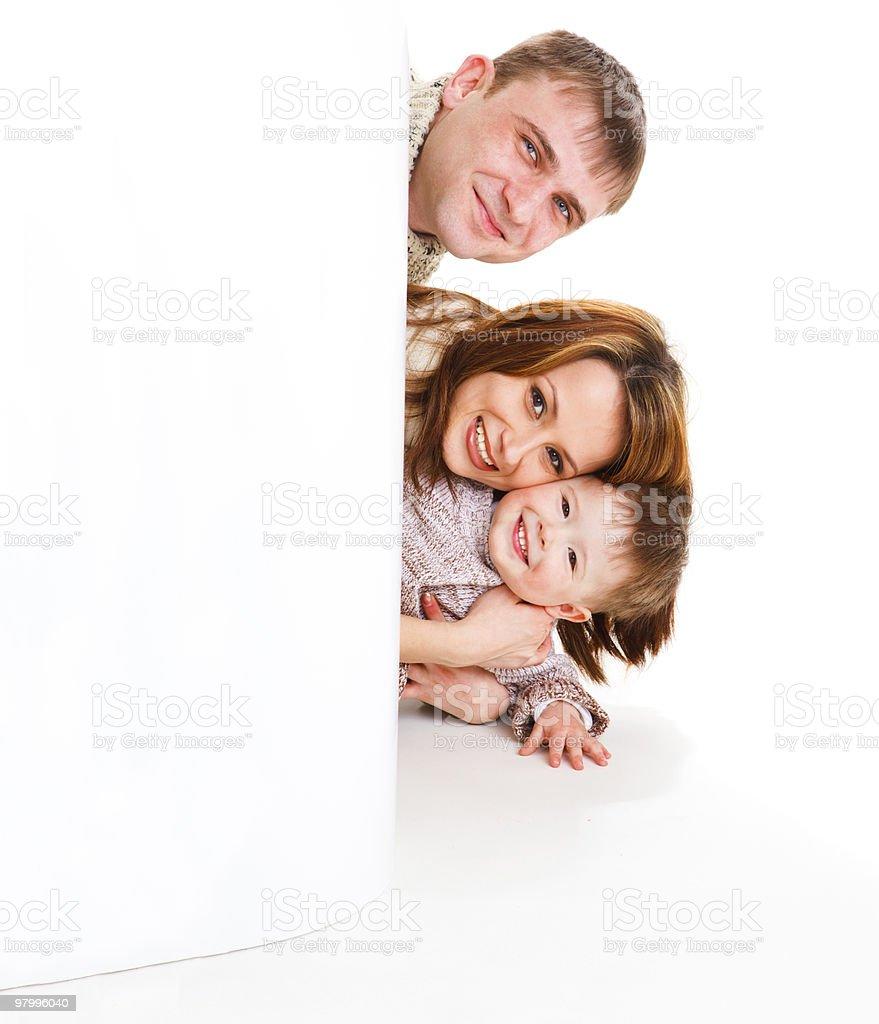 Gorgeous family royalty-free stock photo