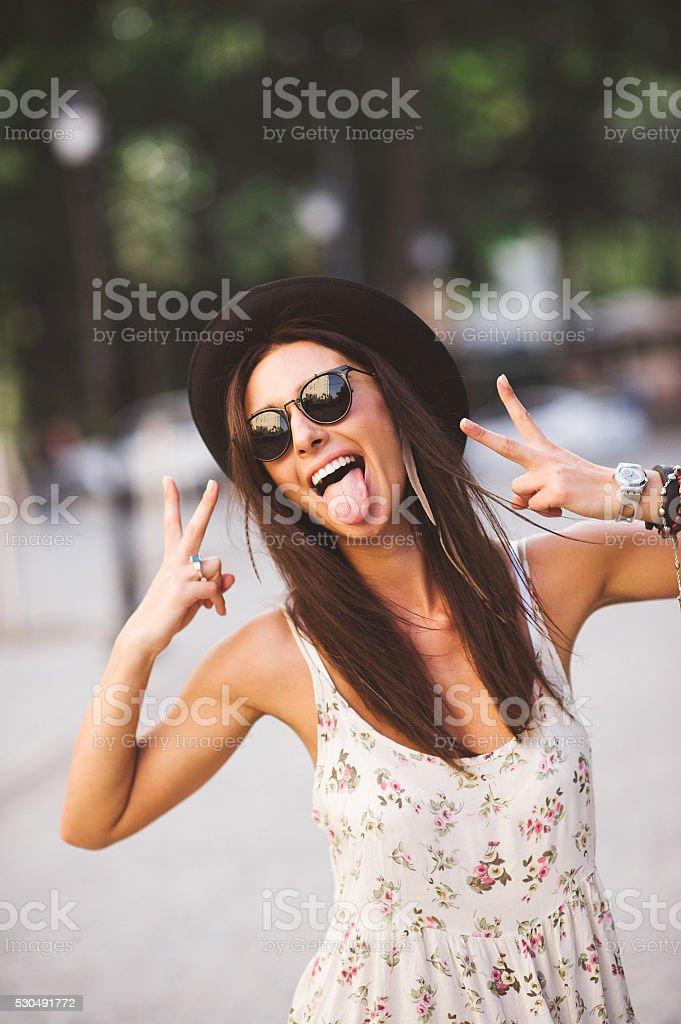Gorgeous Funky Girl stock photo