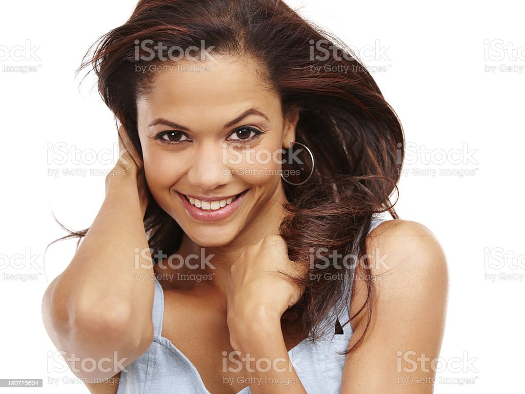 Gorgeous, glossy hair royalty-free stock photo