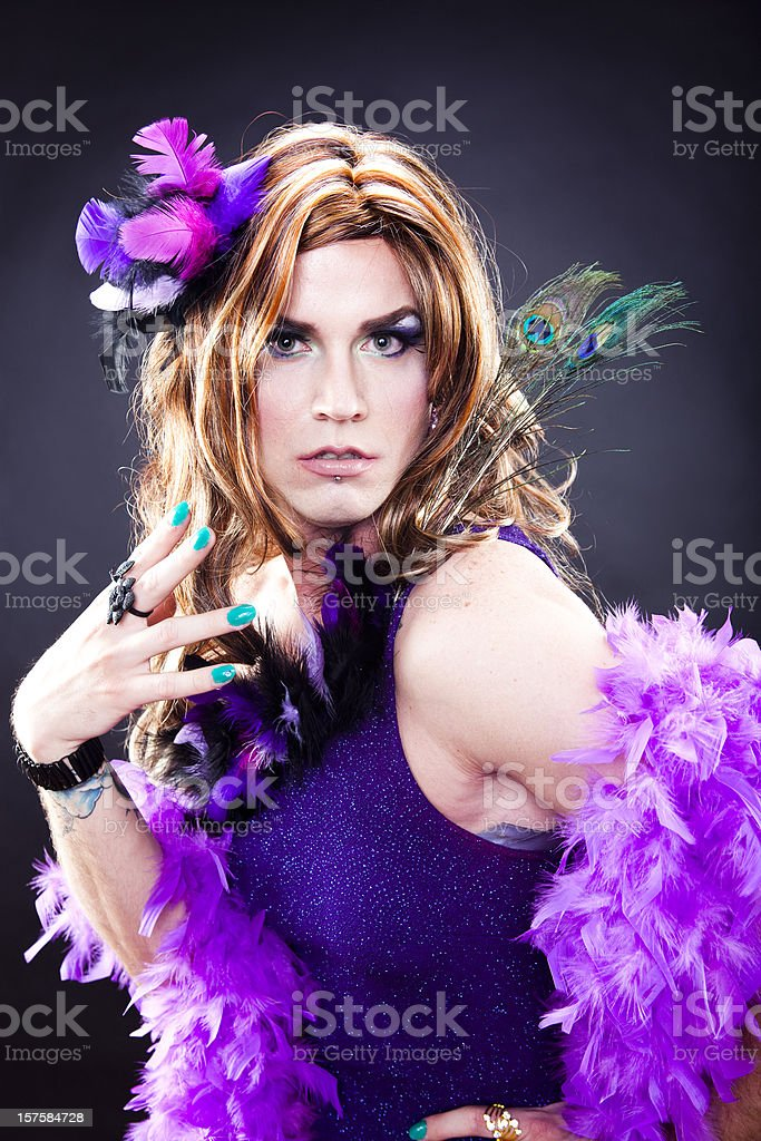 Gorgeous in Drag stock photo