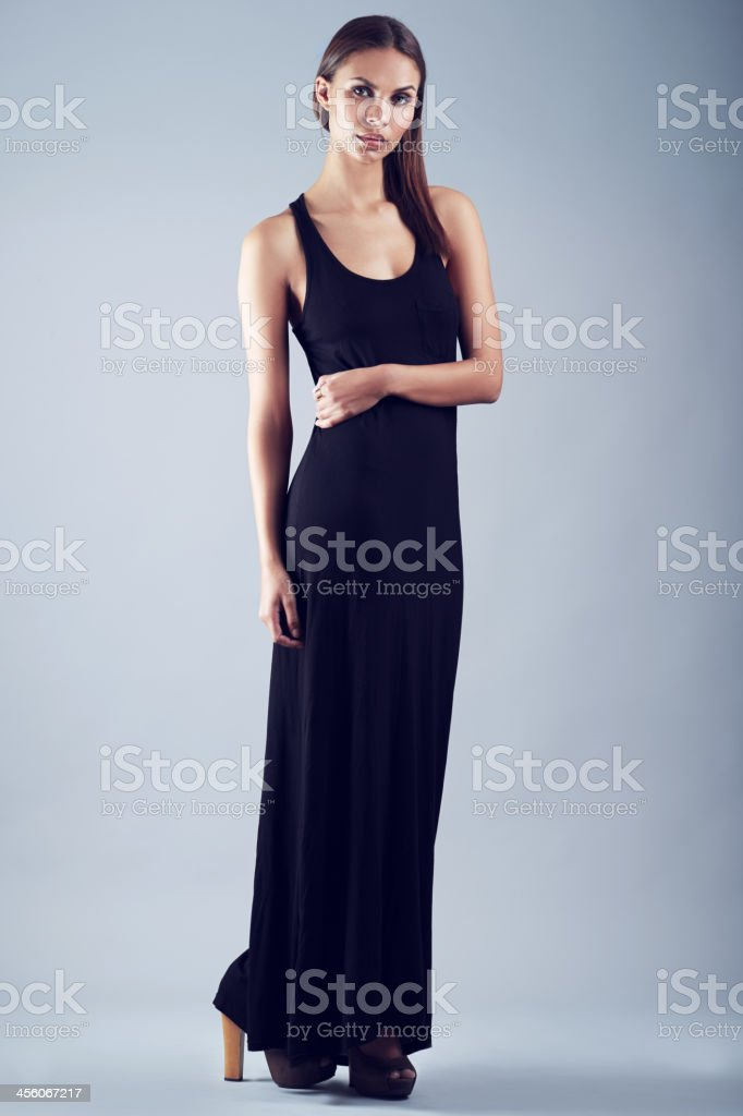 Gorgeous in evening wear stock photo