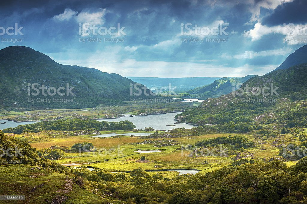 Gorgeous landscape in Ireland stock photo