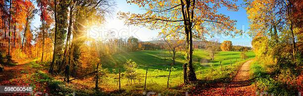 Photo of Gorgeous landscape panorama in autumn