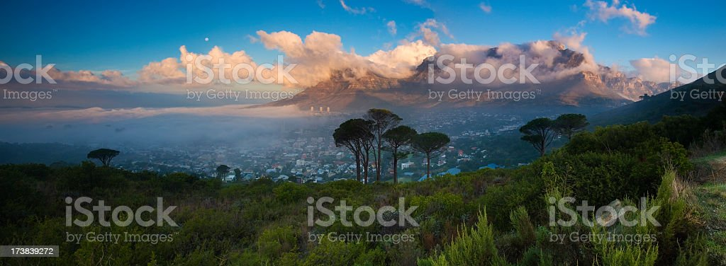 Gorgeous mountain surrounded by nature stock photo