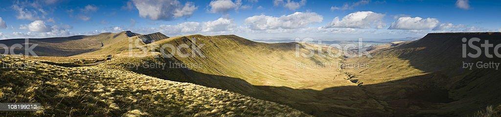Gorgeous mountain vista stock photo