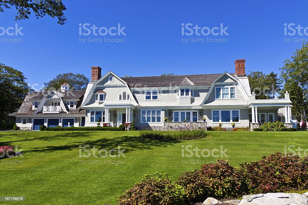 Gorgeous old home in Kennebunkport, Maine stock photo