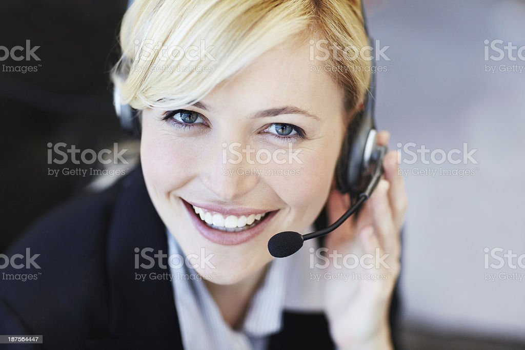 Gorgeous personal assistant stock photo
