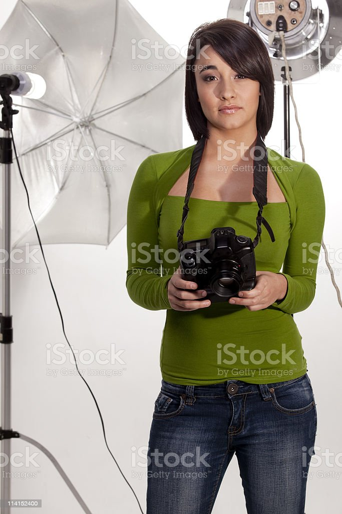 Gorgeous photographer royalty-free stock photo