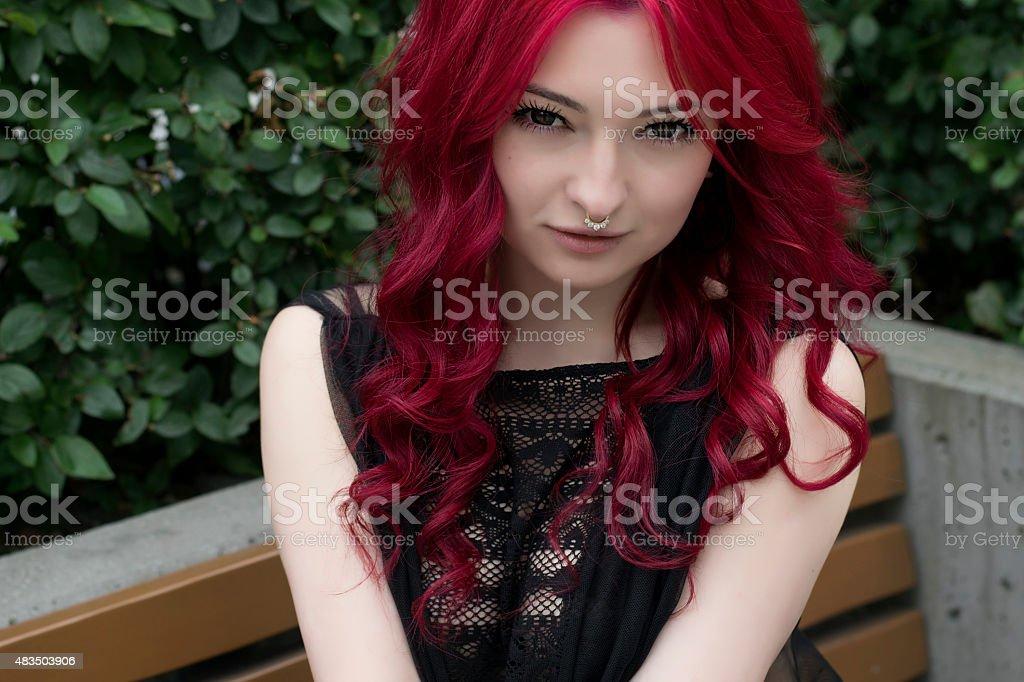 Gorgeous Redhead Girl In Garden Royalty Free Stock Photo