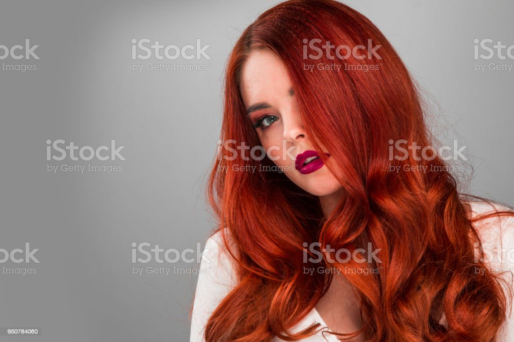Gorgeous Redhead Model Girl Royalty Free Stock Photo