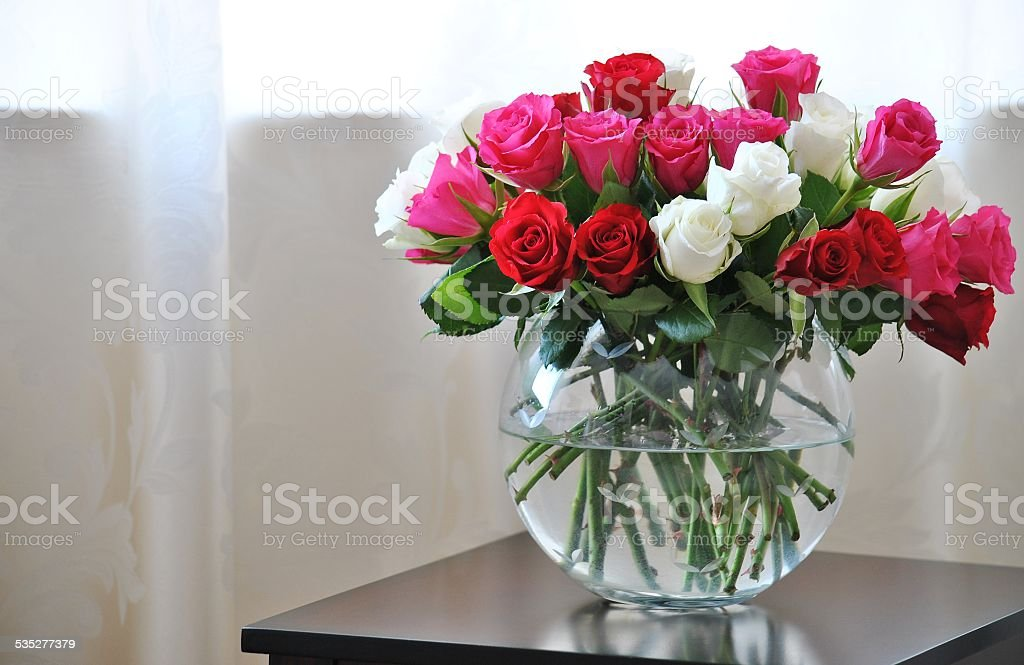 Gorgeous Roses - Rose Bowl Vase stock photo