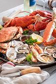 gorgeous seafood platter imagegorgeous seafood platter image