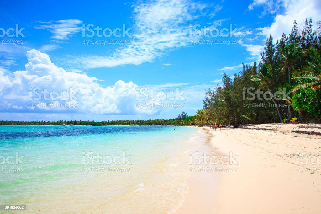 Gorgeous shore in Punta Cana stock photo