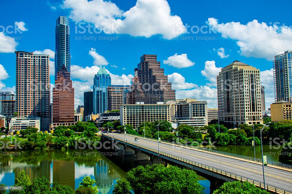 Gorgeous Summer Austin Texas Capital Cities A Nice Day stock photo