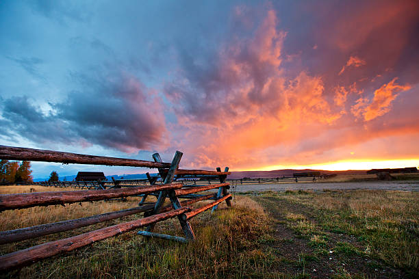 Gorgeous Sunset in Idaho - foto de stock