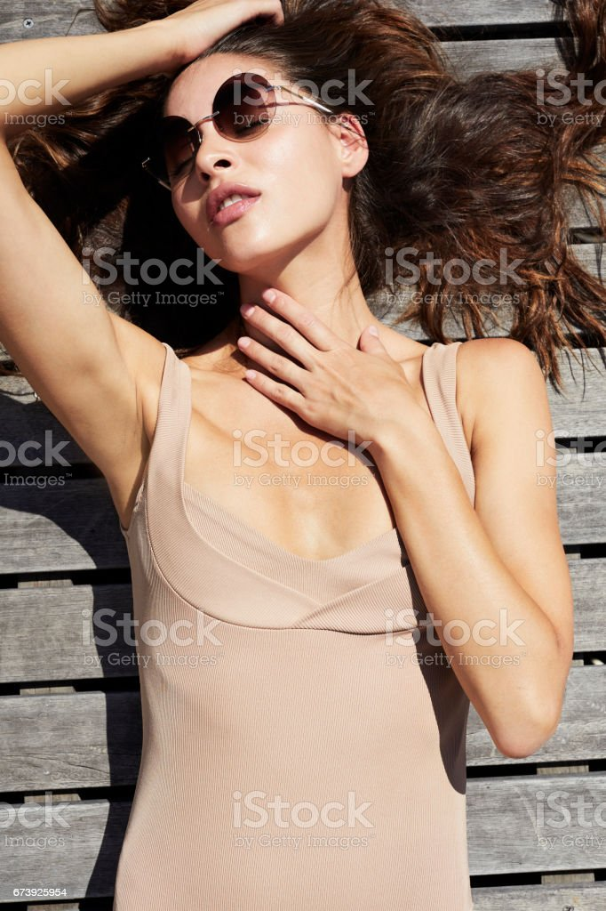 Gorgeous swimsuit girl foto de stock royalty-free