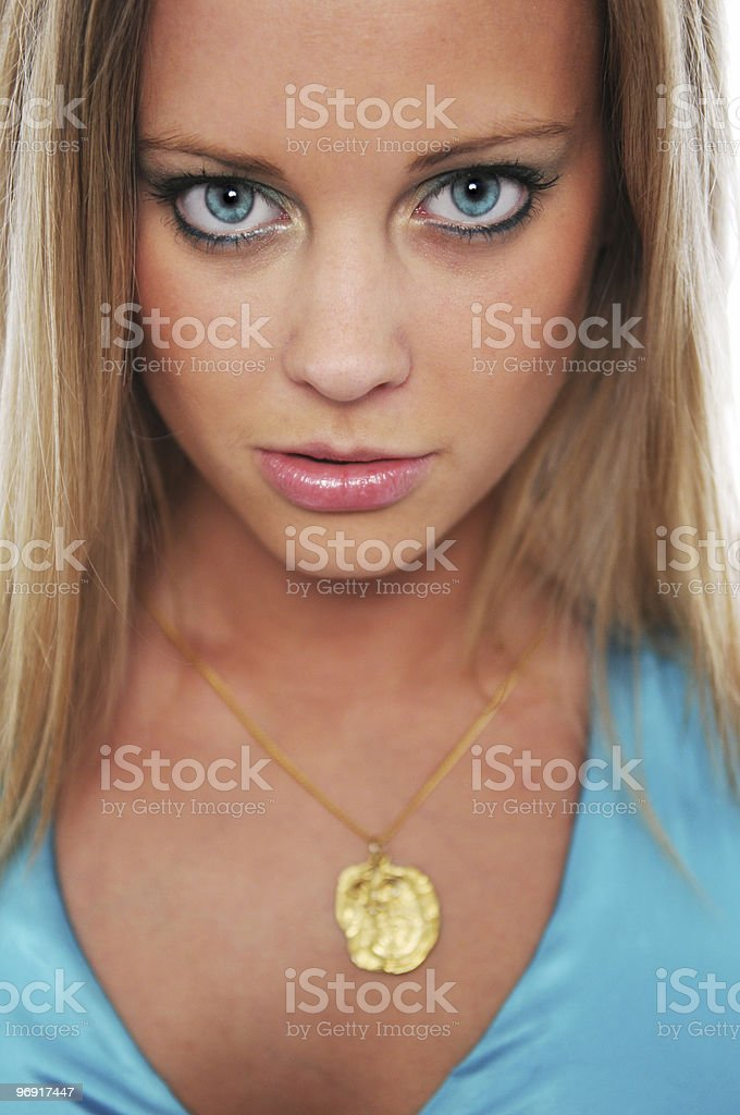 Gorgeous teen girl close up royalty-free stock photo