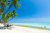Gorgeous view of Maceio beach with its Caribbean blue waters