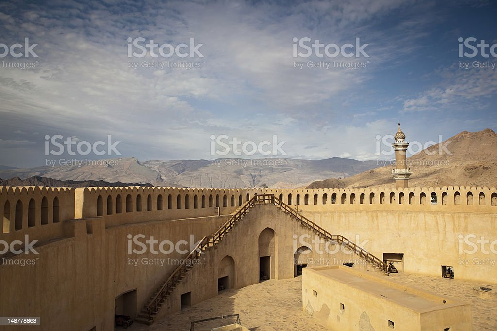 Gorgeous view of the Nizwa fort in Oman royalty-free stock photo