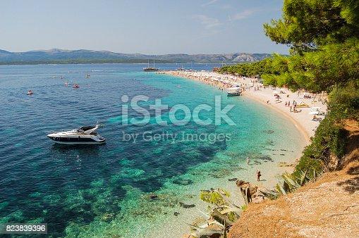 Gorgeous view on Golden Cape on Brac island in Croatia