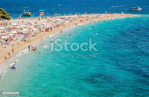 istock Gorgeous view on Golden Cape on Brac island in Croatia 823839426