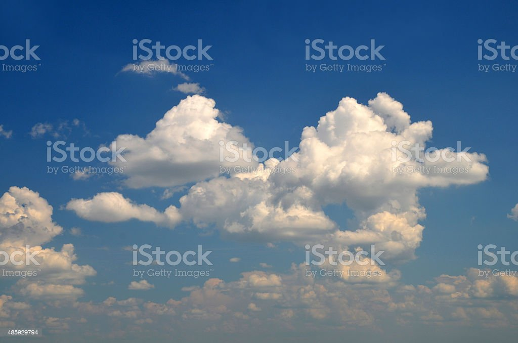 Gorgeous white clouds stock photo