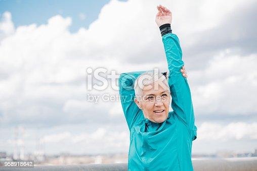 1057638814 istock photo Gorgeous woman exercising 958918642